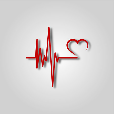 Electrocardiogram, ecg or ekg - medical icon