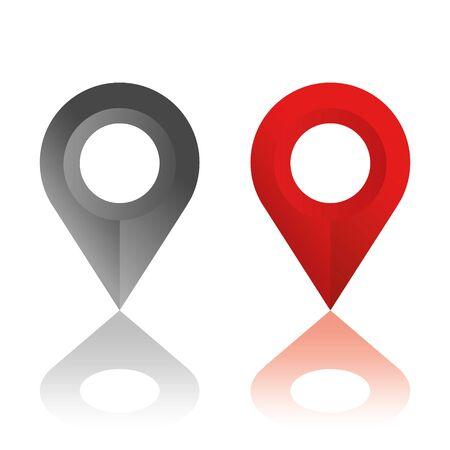 Ilustración de Set of location icons. Modern map markers .Vector illustration on a white background. - Imagen libre de derechos