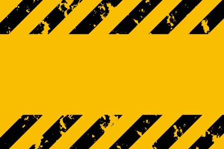 Illustration for Illustration of yellow and black stripes. Symbol of hazardous and radioactive substances. Traditional background with grunge effect. Vector illustration. - Royalty Free Image