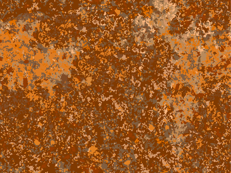 Illustration for natural rusty texture, imitation of rust. seamless Vector pattern - Royalty Free Image