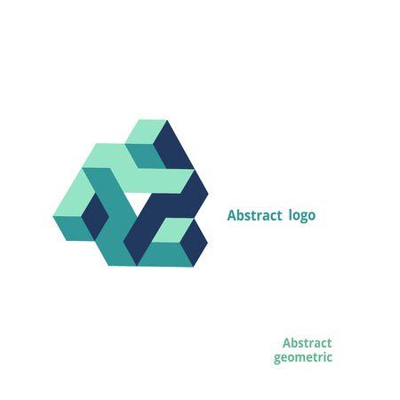 Illustration pour abstract geometric logo on a white background. Vector illustration - image libre de droit