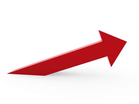 Photo pour 3d arrow red up success high growth - image libre de droit