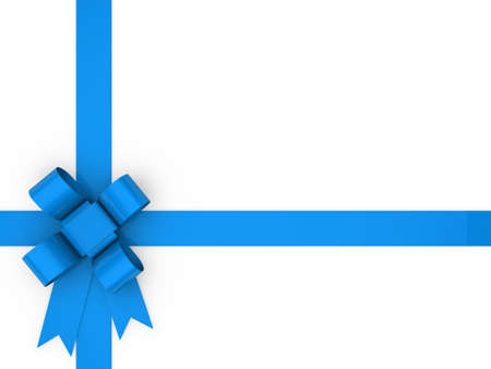3d loop blue gift ribbon christmas birthday