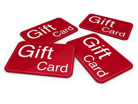 Photo pour 3d gift card red celebration greeting sale - image libre de droit