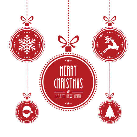 Illustration pour christmas ball red isolated background - image libre de droit