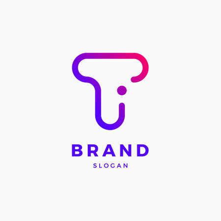 T I Letter Logo Design Template