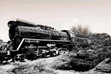 Photo pour Old locomotive - image libre de droit