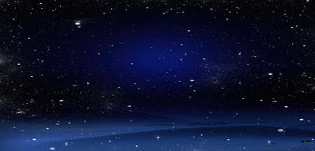 Photo pour New Year's background. Snow falls on snowdrifts, night view - image libre de droit