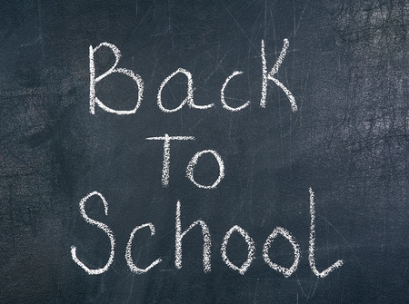 Back to school on blackboard chalkboard