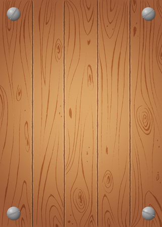 Wooden background. Wood plank texture. Vector illustration