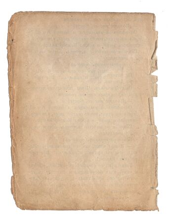 Foto per Old paper with scratches and stains texture isolated on white - Immagine Royalty Free