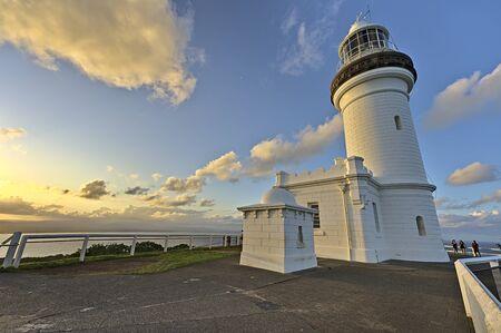 Photo pour Cape Byron Light near the town of Byron Bay at sunset - image libre de droit