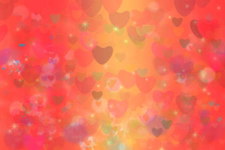 Photo pour colorful heart star rainbow bubble and red heart abstract background - image libre de droit