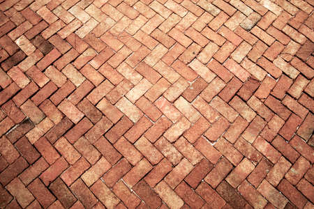 Photo for Ancient of light rose tone brick floor pavement stones luxury wall tile interiors - Royalty Free Image