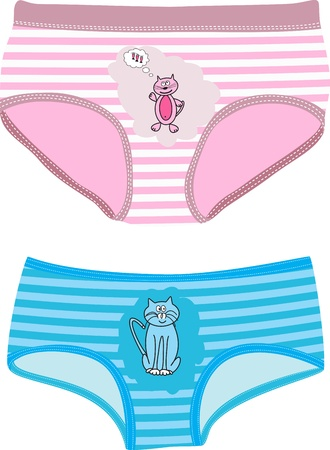 Children's Underpants with cats. Vector illustration