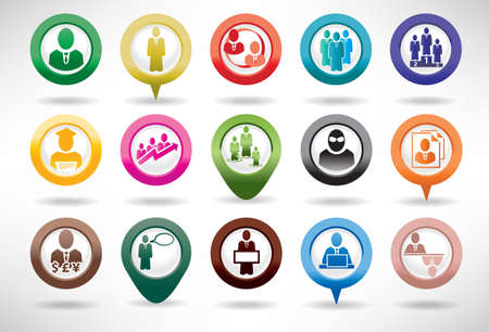 Vektor für Icon Set Business and Management - Lizenzfreies Bild