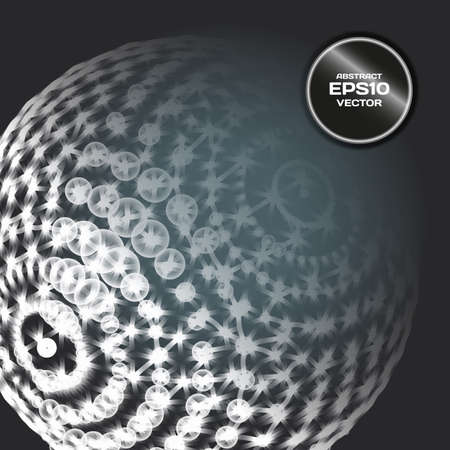 Abstract background with sphere dots and lines on theme digital technology and internet