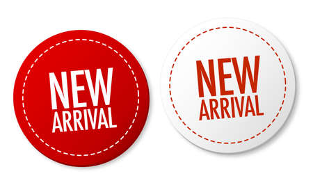 Illustration for New arrival stickers - Royalty Free Image
