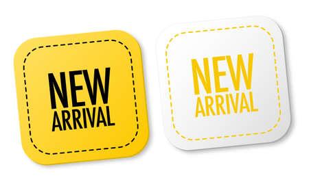 Illustration pour New arrival stickers - image libre de droit