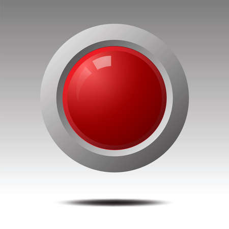 red blank button for icon design.  Element for Design. Vector illustration.