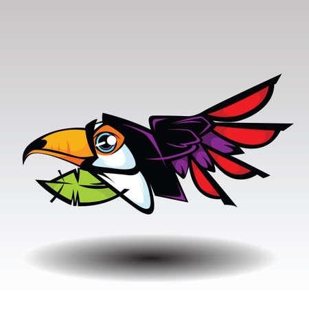 Illustration pour Hornbill Design white background. - image libre de droit