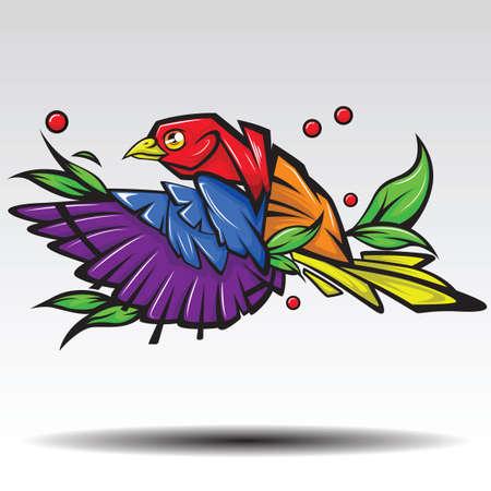 Illustration pour Woodpecker Design white background. - image libre de droit