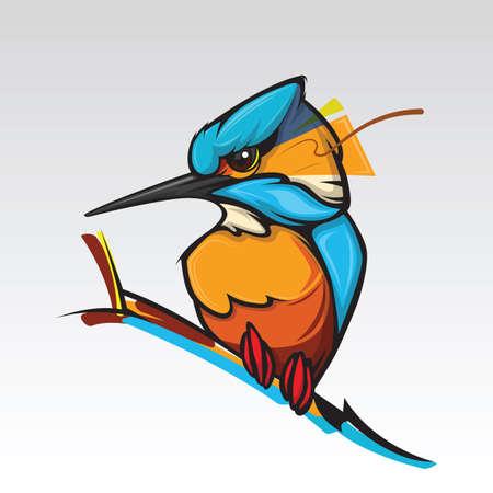 Illustration pour Humming bird design on white background. - image libre de droit