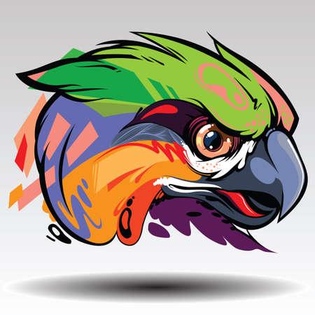 Illustration pour The parrot Design white background. - image libre de droit