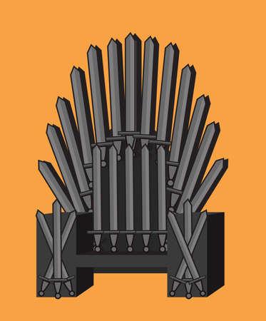 Throne orange background