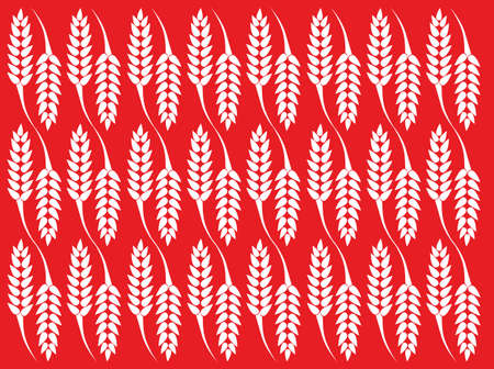 Wheat texture with red background