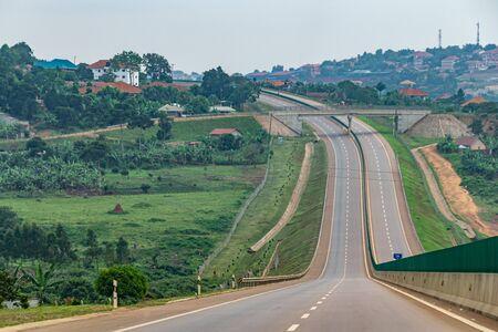 Photo for New road bypass between Entebbe and Kampala, Uganda November 2019 - Royalty Free Image