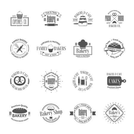 Vektor für Vintage bakery badges, labels and logos - Lizenzfreies Bild