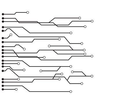 Illustration pour Circuit logo vector illustration design - image libre de droit