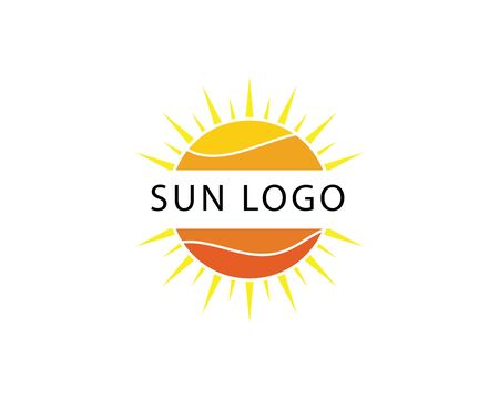 Illustration for Vector Icon Logo Template Sun over horizon - Royalty Free Image