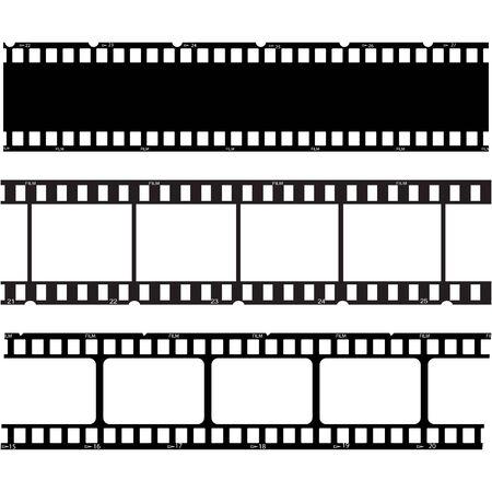 Illustration for filmstrip Logo Template vector illustration design - Royalty Free Image