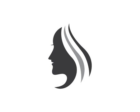 Illustration for beauty woman logo icon - Royalty Free Image