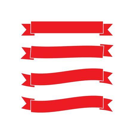 Illustration pour Ribbon logo template vector icon design - image libre de droit