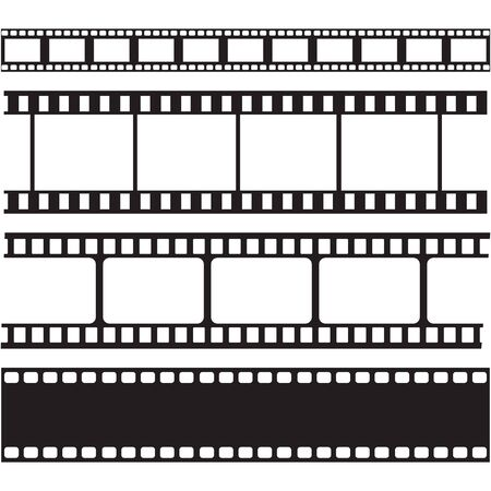 Illustration for film strips and stamps collection,illustration vector - Royalty Free Image