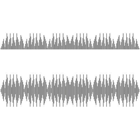 Illustration pour Audio technology, music sound waves vector icon illustration - image libre de droit