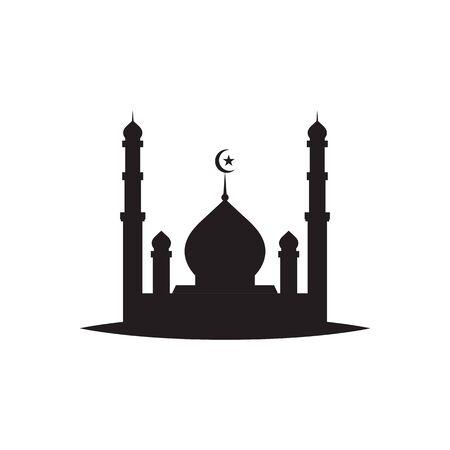 Illustration pour islamic mosque logo vector icon template - image libre de droit