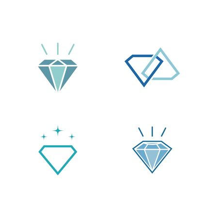 Illustration for Set Of Diamond  Template vector icon illustration design - Royalty Free Image