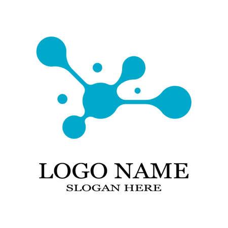Illustration pour Molecule symbol logo template vector illustration design - image libre de droit