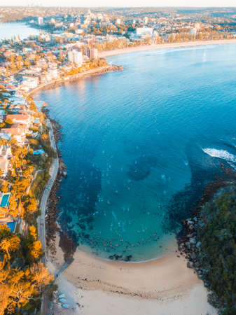Aerial view of Shelly Beach, Manly, Sydney.