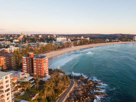 Aerial view of Manly Beach area, Sydney, Australia.