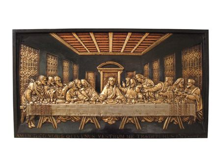 A Cast Iron Plaque Depicting the Last Supper