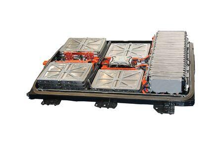 Photo pour The Battery Power Units of a Modern Electric Vehicle. - image libre de droit