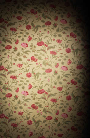 Vintage floral background with wallpaper patterns of roses