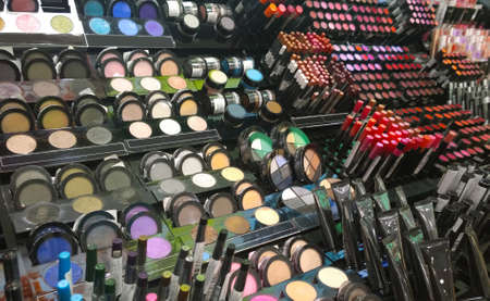 Photo pour Cosmetics shop with great variety of products. Concept of consumerism, retail and purchase - image libre de droit