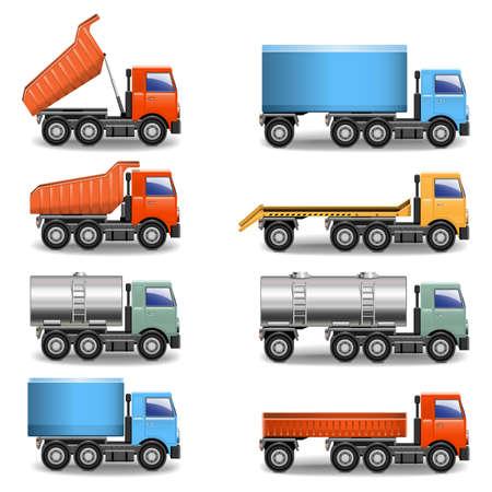 Illustration pour truck icons - image libre de droit