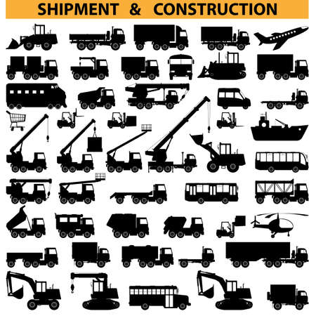 Illustration for commercial vehicles pictograms - Royalty Free Image